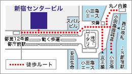 東京本社 地下通路地図